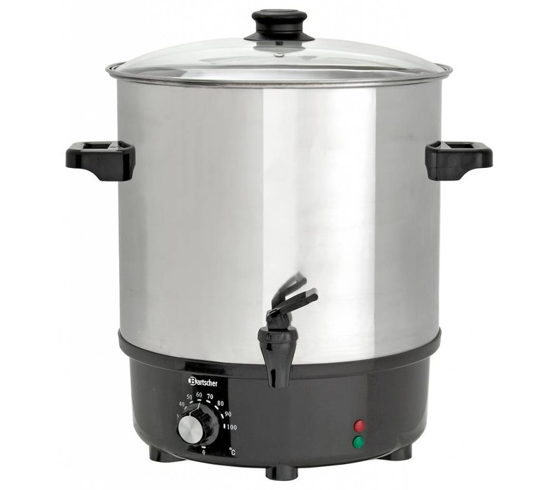 Bartscher Heetwaterpan / Gluhweinpan met tapkraan | RVS Ketel | Ø450 mm | 25 liter