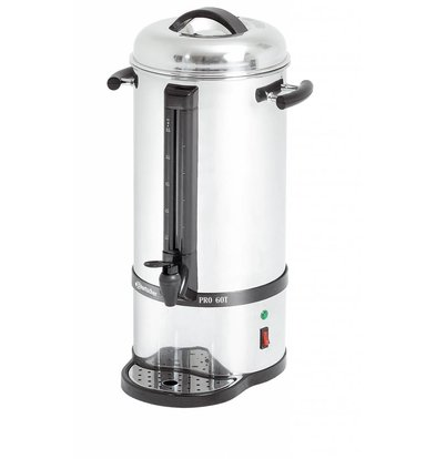 Bartscher Stainless Percolator | With cup Standard | Ø220x (H) 545mm | 72 Cups | 9 Liter
