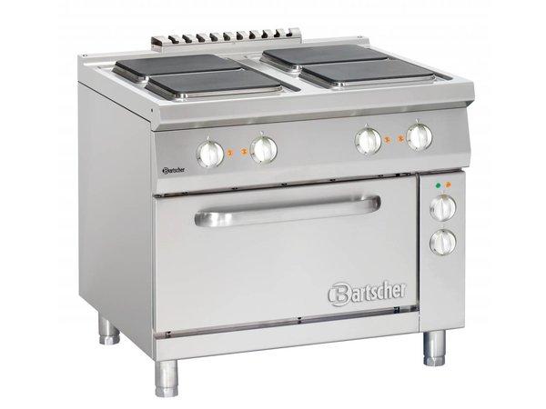 Bartscher Elektrische Kookplaten 4x Serie 900 + Elektrische Oven 2/1 GN | 400V | 900x900x(H)850-900mm