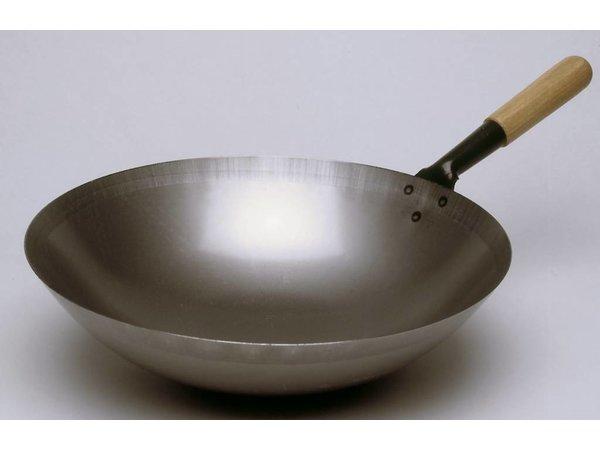 Bartscher Stalen wokpan - 360mm - Ronde bodem