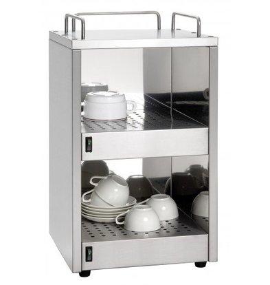Saro Kopjeswarmer RVS | 48 kopjes | 320x320x(H)545mm | XXL AANBIEDING!