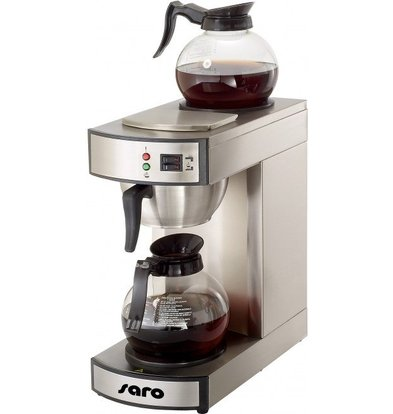 Saro Stainless Steel Coffee Maker | 1.8 Liter | Incl. 2 Glass Jars | 2,1kW | 195x365x (H) 445mm