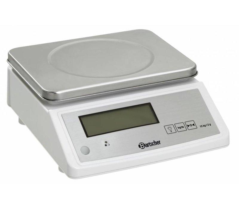 Bartscher Electronische Keukenweegschaal - Max. 15 kg - weergave vanaf 2 gr