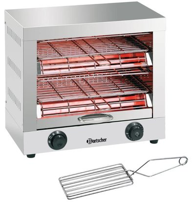 Bartscher Toaster / Quartz gratineeroven, with double timer switch - 44x26x (H) 40cm -3000W