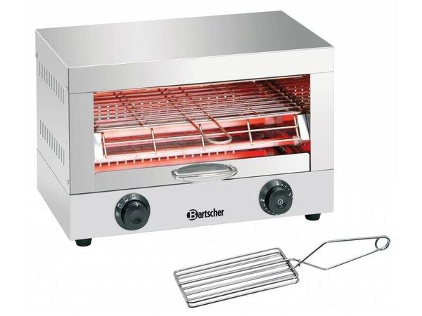 Bartscher Toaster/ Kwarts gratineeroven, enkel inclusief toast tang - 44x26x(H)29cm - 1700W