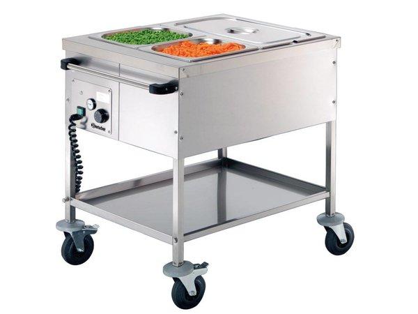Bartscher Voedseltransportwagen | 2 x 1/1 GN | 650x820x(H)855mm