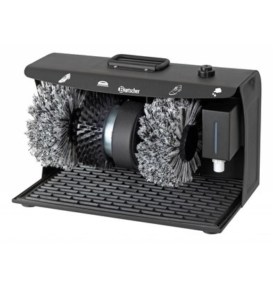Bartscher Shoe shine machine SUPER DELUXE | 3 Brushes | with Handle | 400x240x260 (h) mm
