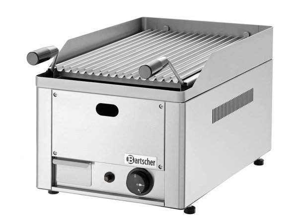 Bartscher Lavasteengrill Gas RVS - Tafelmodel - met Grill Rooster -33x54x(h)28,5cm - 4KW