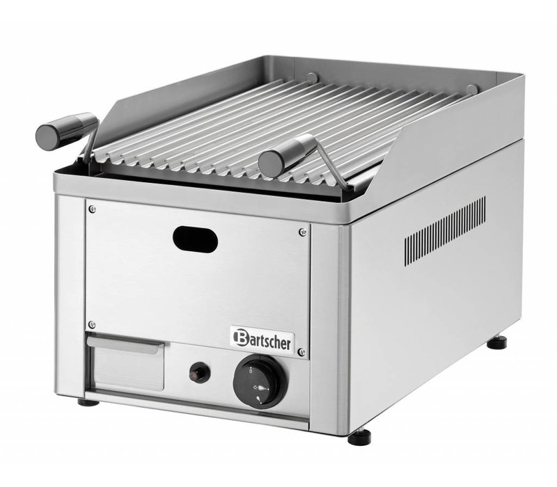 Bartscher Lava Stone Grill Gas Stainless Steel - Tabletop - with the grill pan -33x54x (h) 28,5cm - 4Q - Copy