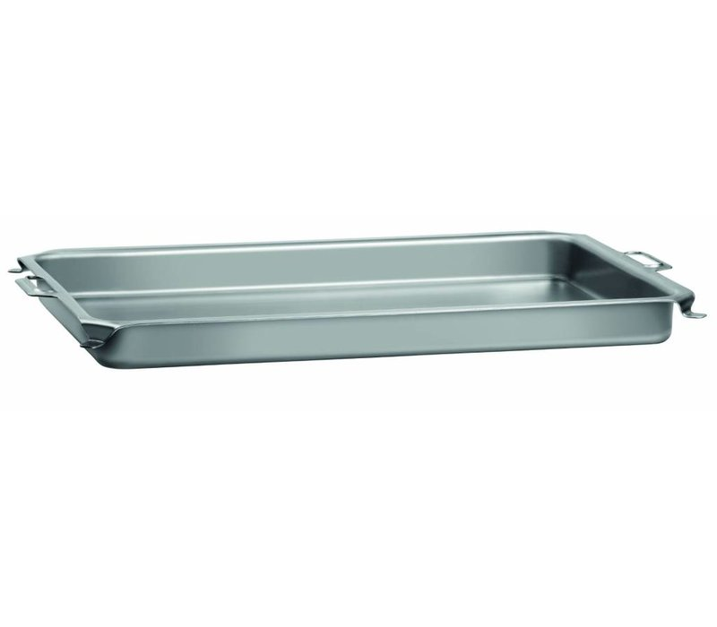 Bartscher Pan voor Tafelbraadgrill | Plaatstaal | Met Grepen | 870x525x(H)65mm