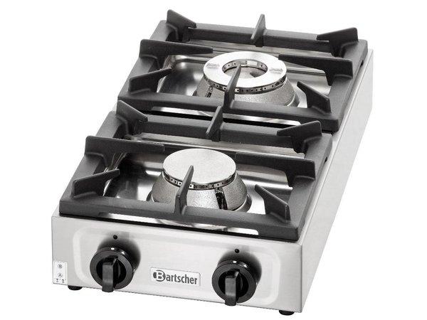 Bartscher Gas kooktafel | 2 branders | 9 Kw | 350x660x(h)170mm