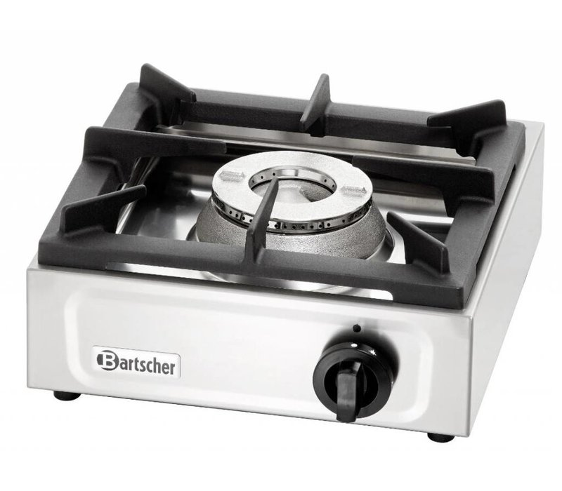 Bartscher Gas kooktafel | 6,5 KW | Propaangas | 350x350x(h)170mm