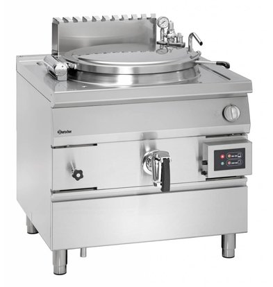 Bartscher Gas Indirect Boiling Pan Heating - 150L - 900x900x (h) 850-900mm - 21KW