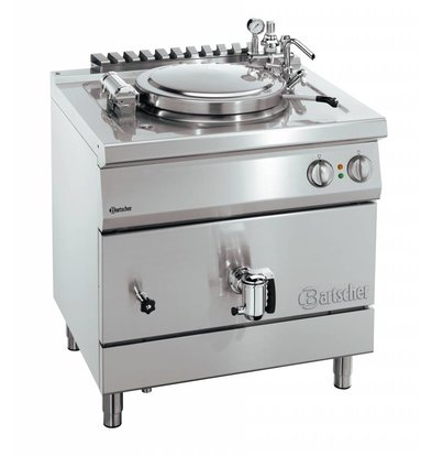 Bartscher Electric Boiling Pan Indirect Heating - 135 liters - 900x900x850-900 mm - 18KW