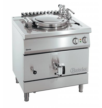 Bartscher Electric Boiling Pan Indirect Heating - 100L - 900x900x (h) 850-900mm - 16KW
