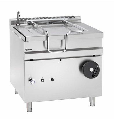 Bartscher Gas Kantelbare Braadpan | Met Hand Bediend Kantelwiel | 22 kw | 900x900x(H)900 mm