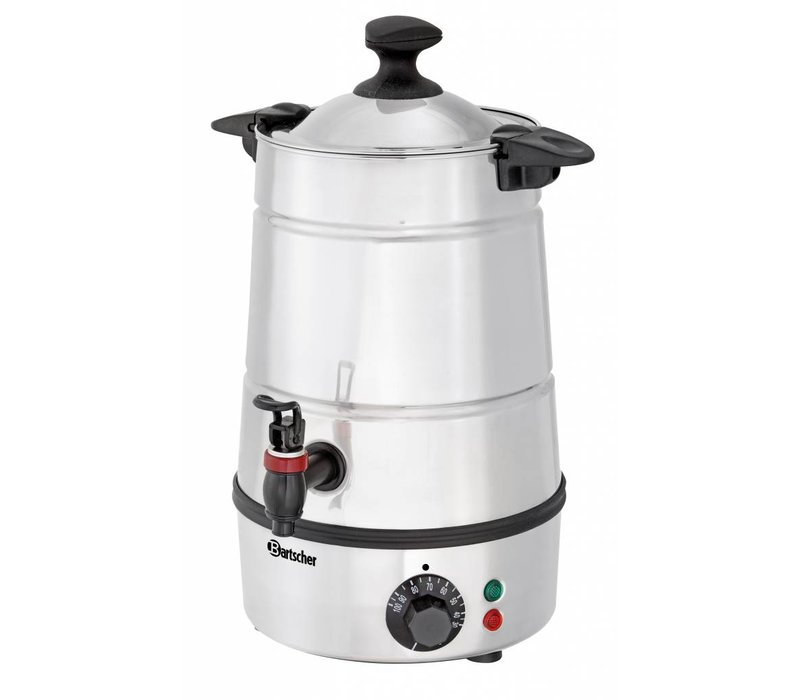 Bartscher Heetwater Dispenser / Gluhwein ketel | Tapkraan | Ø210 mm | 5 liter