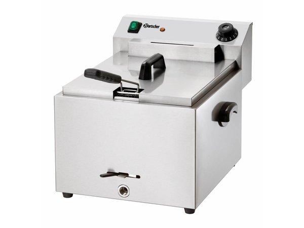 Bartscher Elektrische Friteuse | 10 Liter | Met Aftapkraan | 8,1 kW | 410x500x(H)380mm
