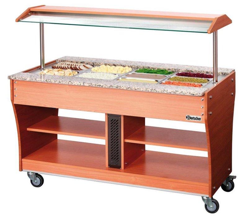 Bartscher Gastro Buffet T - Warmhoudvitrine 4 x 1/1 GN