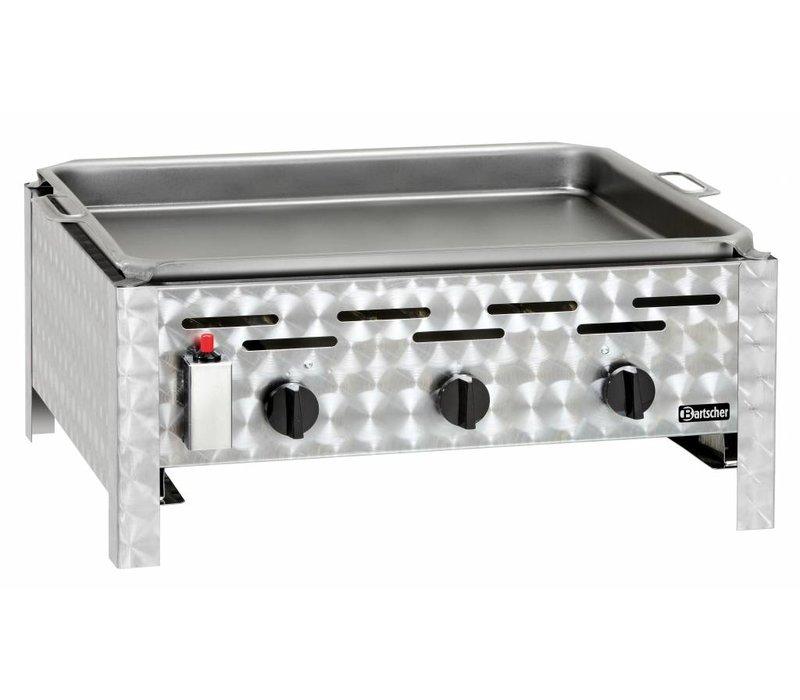 Bartscher Gas-combi-tafel BBQ - Bakplaat