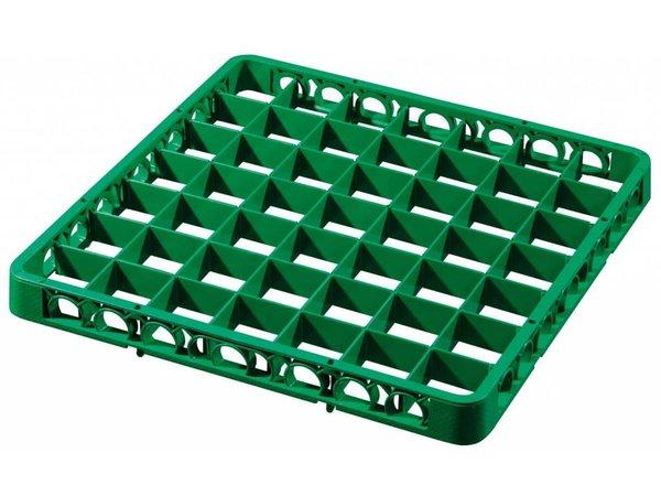 Bartscher Afwaskorf Opzetrand - 49 vakken - Groen