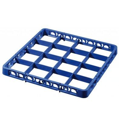 Bartscher Afwaskorf opzetrand - 16 vakken - Donkerblauw