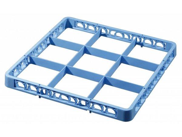 Bartscher Afwaskorf opzetrand - 9 vakken - Blauw