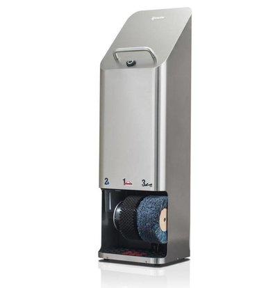 Heute Shoe shine machine Quadro Plus | SS | 2 Brushes | 380 (L) X340 (d) X1270 (H) mm