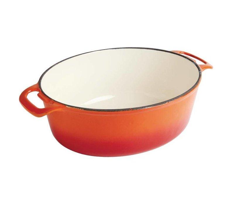 Vogue Braadpan Signature Oranje - Le Creuset Look-a-Like - Ovaal 30x25x(h)11cm