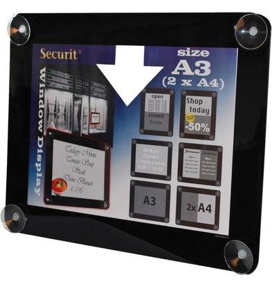 Securit Window poster display Black A3