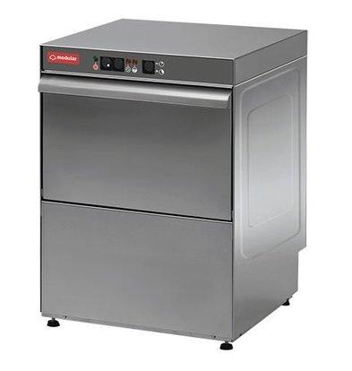 Modular Glasswasher 18/10 stainless steel Modular | Automatic wash cycle | 3200Watt | 500x420x (H) 610mm