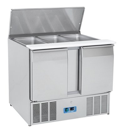 CaterCool Saladette CaterCool RVS 2 Deurs | 1050x700x(H)850mm | 3x 1/1 GN