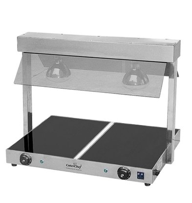 Caterchef Hotplate with Bridge | Adjustable up to 85 ° C | 2x 1 / 1GN