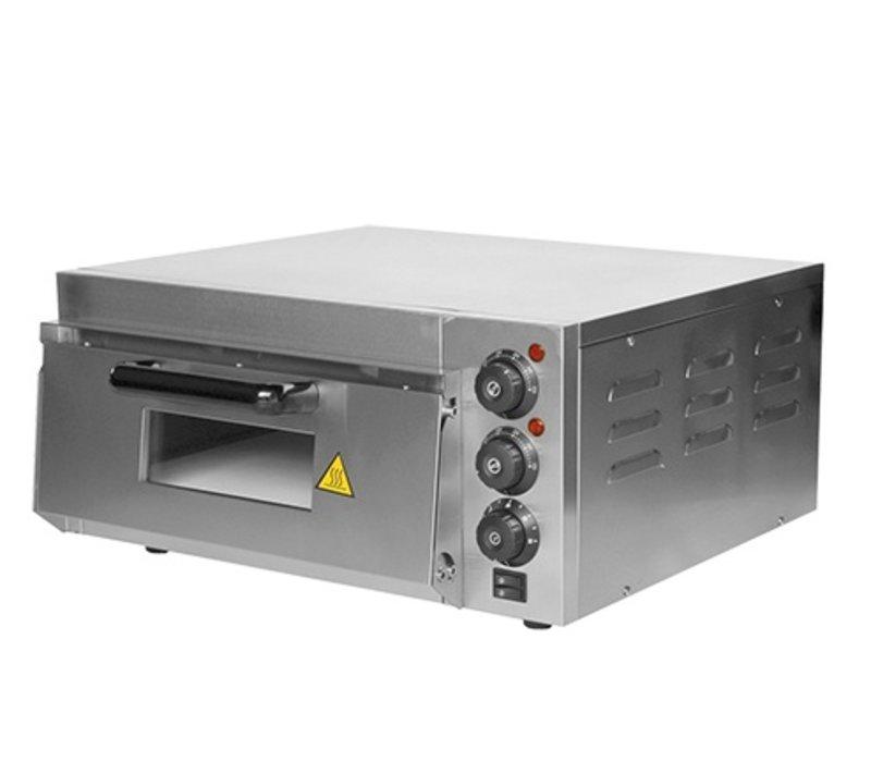 Caterchef Pizza Oven RVS   50°C-350°C   2000W   585x560x(H)263mm