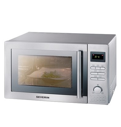 XXLselect Combi Microwave Stainless Steel | Grill and Convection oven | 2400W | 520x460x (H) 310mm | 25 liter