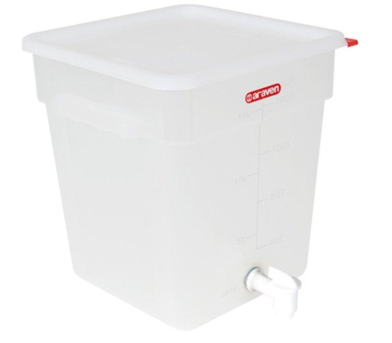 Araven Dranken Container - 18L -  285x285x32(h)mm