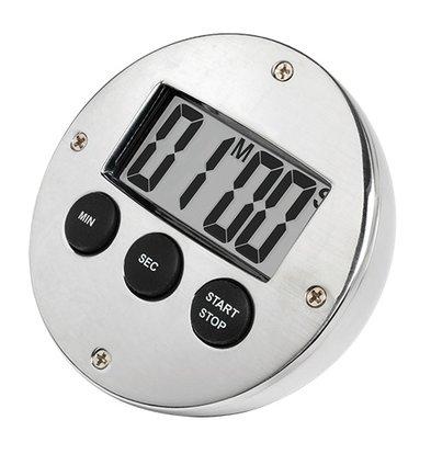 XXLselect Digital Timer Verchromd | 60 Minutes | DeLuxe | ø80mm