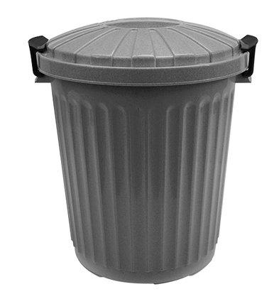 XXLselect Afvalvat met Deksel Grijs   Ø35x(H)41mm   23 Liter