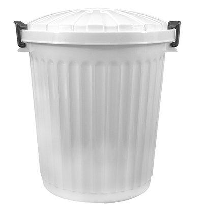 XXLselect Afvalvat met Deksel Wit   Ø35x(H)41mm   23 Liter