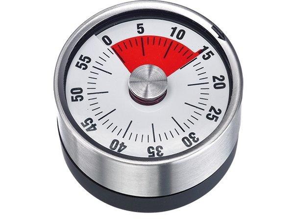 XXLselect Kookwekker RVS   met Magneet 60 Minuten   Ø62mmx(H)36mm
