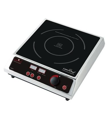Caterchef Induction Cooker Stainless Steel Tabletop | Digital Timer | 2700W | 310x380x (H) 530mm