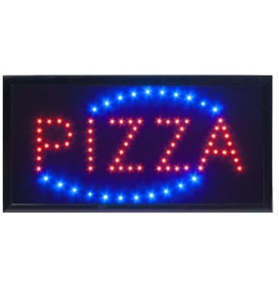 "Securit LED Board ""Pizza"" | 48x24x2cm"