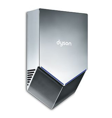 Dyson Dyson Airblade Hand Dryer V - HU02 New - 35% Stiller - Gray / Nickel
