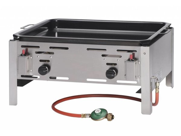 Hendi Gas Barbecue Hendi 154618 Bake Master Maxi | Griddle BBQ Tabletop | Complete with accessories