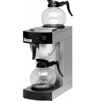 Hendi Koffiezetapparaat 1,8 Liter | Incl. 2 Glazen Kannen | 2100W | 200x385x(H)430mm