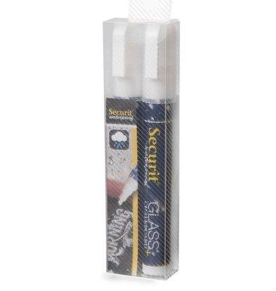 Securit Waterproof Krijtstiften Wit | 2-6mm | 2 Stuks