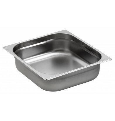 Saro Gastronormbak - edelstaal GN 2/3 - 1,5 liter - 20mm | 325x354mm