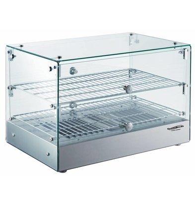 Combisteel Warming Showcase 50 Liter | 800W | 554x361x379 (h) mm