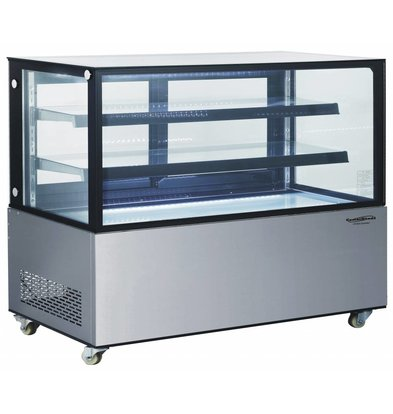Combisteel Refrigerated display case 370 Liter | Forced, Refrigerant R134A | 1215x675x1269 (h) mm