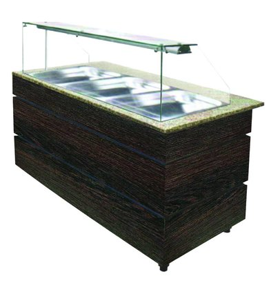 Combisteel Chilled Buffet Wenge 1570 | 4x GN1 / 1 | 568W | 1570x800x1355 (h) mm
